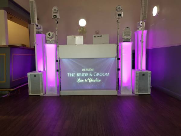 DJ setup for wedding at Powerleague Croydon